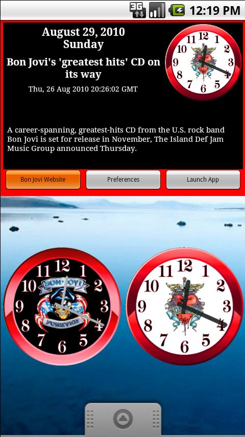 Bon Jovi Clock & News Android Entertainment