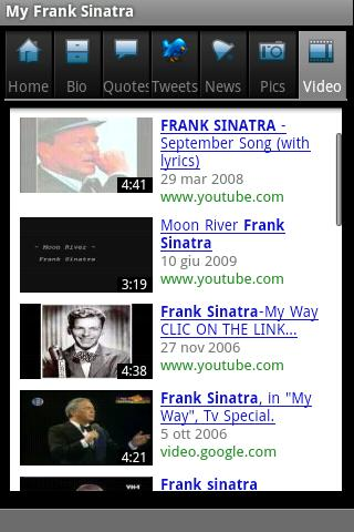 My Frank Sinatra Android Entertainment