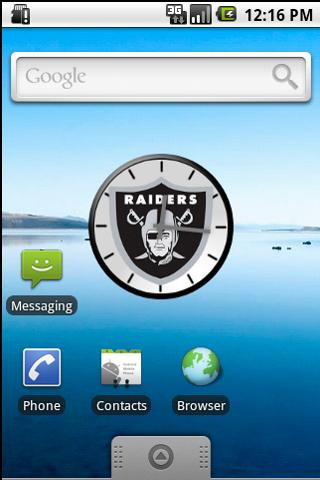 Oakland Raiders Clock Android Entertainment