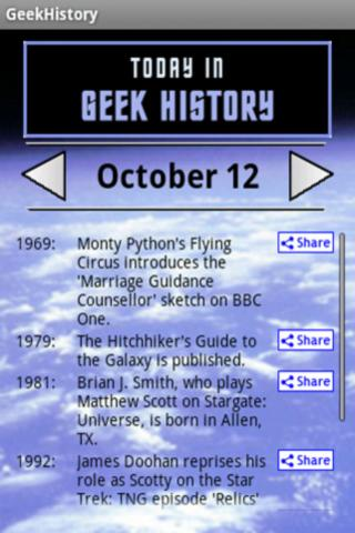 Today In Geek History Android Entertainment