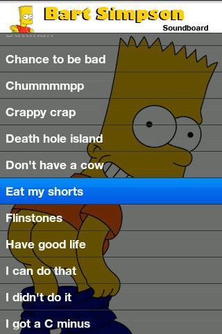 Bart Simpson Soundboard Android Entertainment
