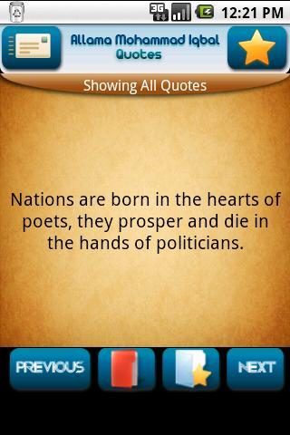 Allama Muhammad Iqbal Quotes Android Entertainment