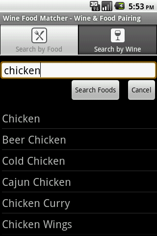 Wine Food Matcher FREE Android Entertainment