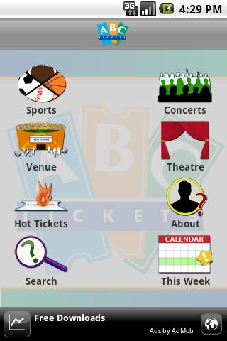 ABC Tickets Android Entertainment