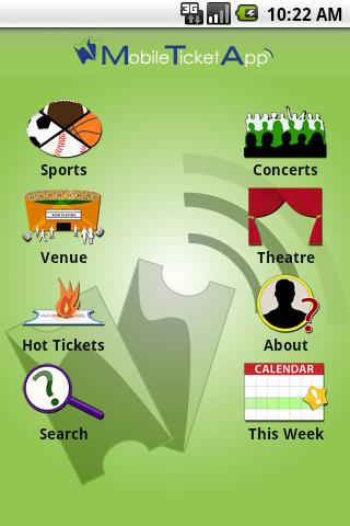 Mobile Ticket App Android Entertainment