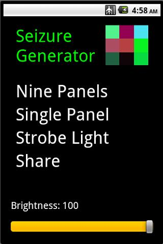 Seizure Generator/Strobe Light Android Entertainment
