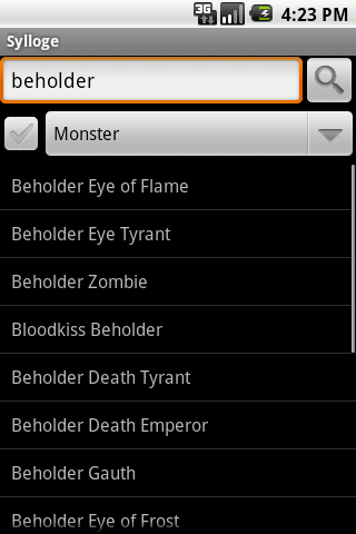 Sylloge D&D Compendium Search Android Entertainment