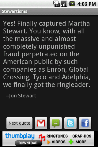 Stewartisms Android Entertainment