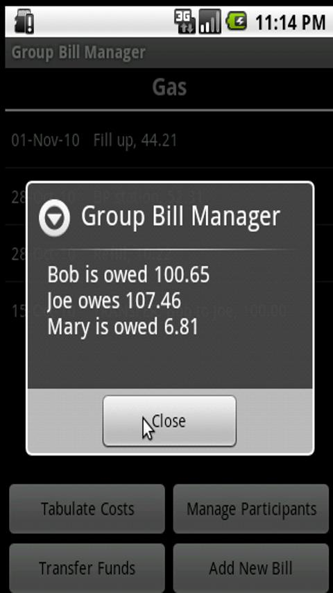 Group Bill Manager Android Finance