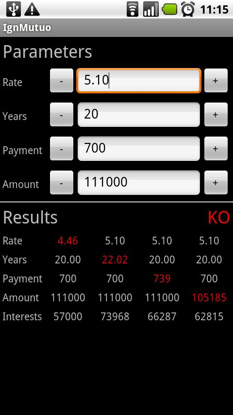 IgnMutuo Loan Calculator Android Finance