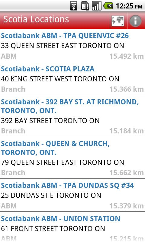 Scotia Bank and ATM locations Android Finance