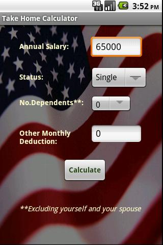 Take Home Calculator Android Finance