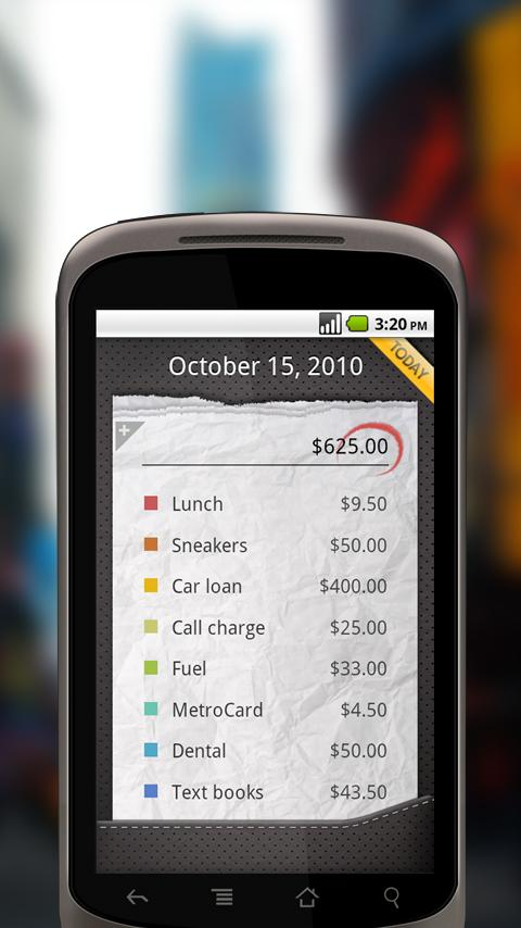 Expenses Android Finance