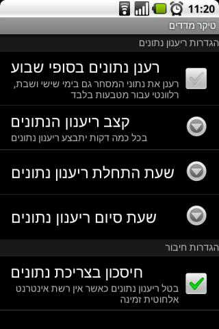 Tel-Aviv Ticker Android Finance