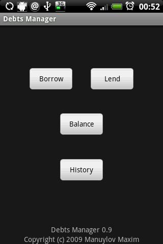 Debts Manager Android Finance