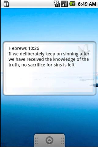 Bible quote widget Android Lifestyle