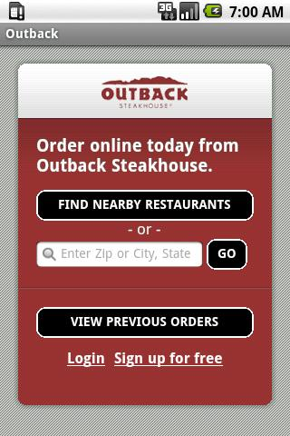 Outback Steakhouse Android Lifestyle