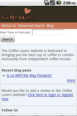 Coffee Lovers London Android Lifestyle