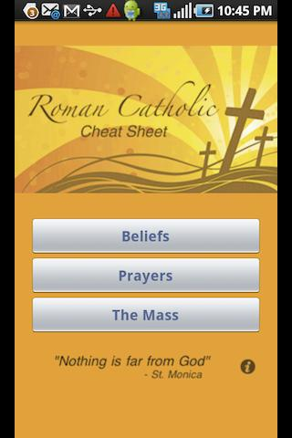 Catholic Cheat Sheet Android Lifestyle