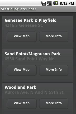 Seattle Dog Park Finder Android Lifestyle