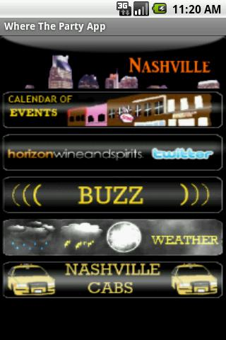 Where The Party App, Nashville Android Lifestyle