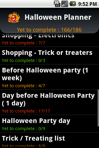 Halloween Planner Android Lifestyle