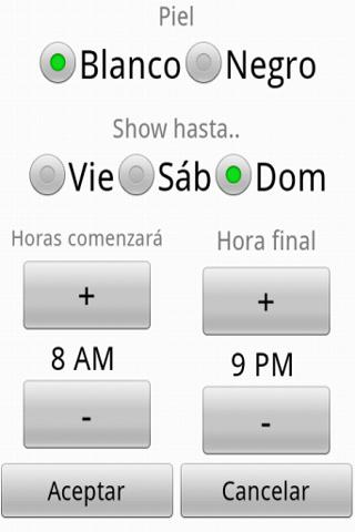 Horario Spread! Android Lifestyle