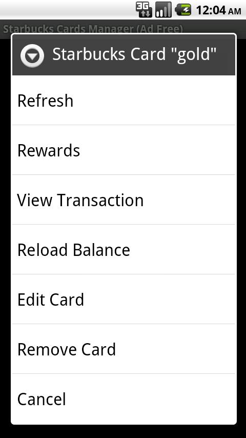 Starbucks Cards Manager AdFree Android Lifestyle