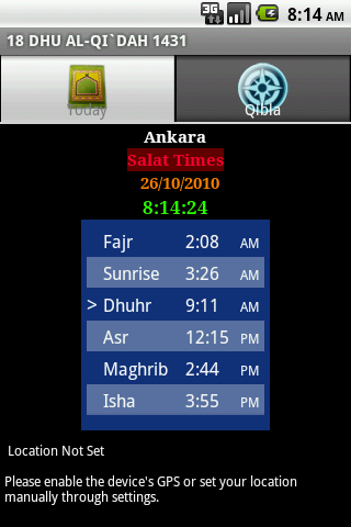 Salat Times Android Lifestyle