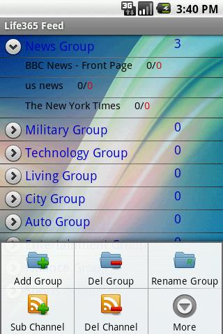 RSS Feed reader Android News & Weather