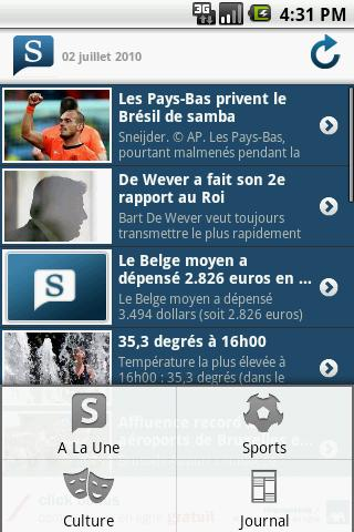 Le Soir Android News & Magazines