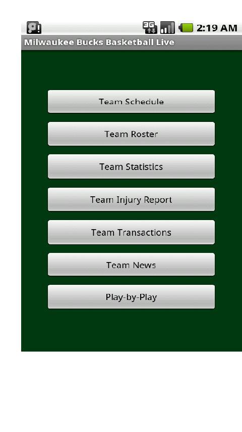Bucks Basketball Live Android Sports