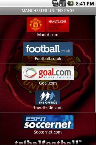 MANCHESTER UNITED PAGE Android Sports