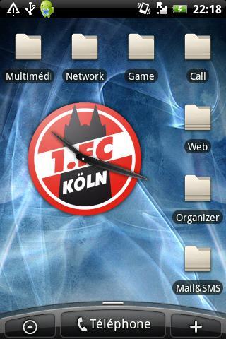 FC Köln Clock Android Sports
