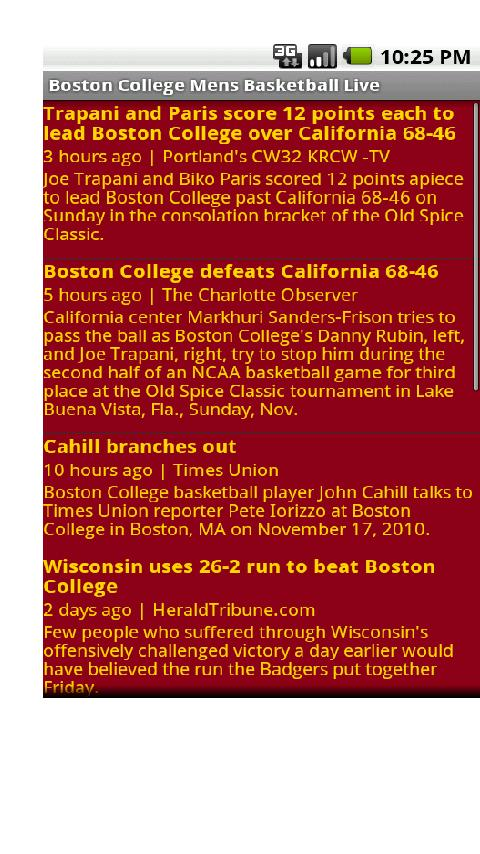 Boston College Mens Bball Live Android Sports