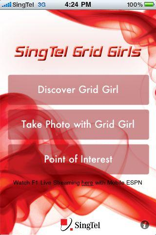 SingTel Grid Girls Android Entertainment