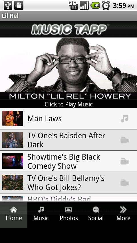 Lil Rel Android Entertainment