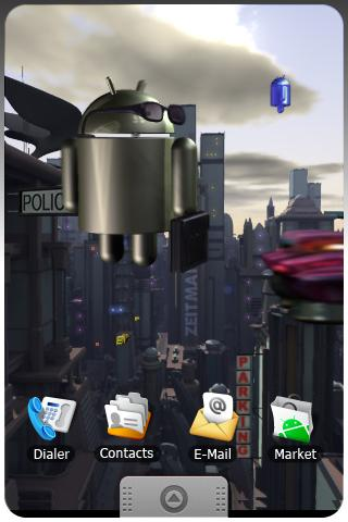 ANDROID CITY  live wallpaper . Android Entertainment