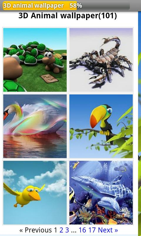 3D animal wallpaper Android Personalization