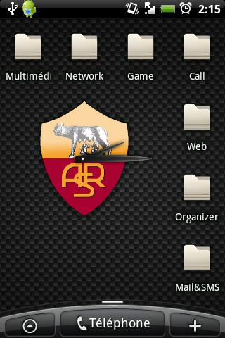 AS Roma Clock Android Sports