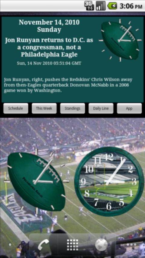 Eagles Football News & Clocks Android Sports