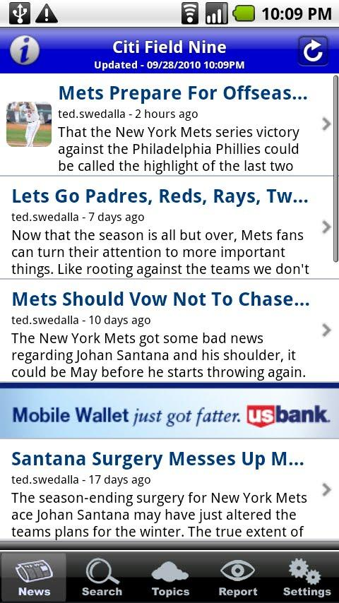 Citi Field Nine Android Sports