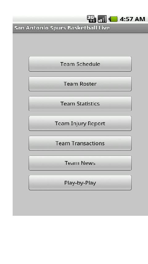 Spurs Basketball Live Android Sports