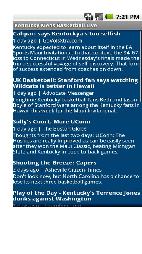 Kentucky Mens Basketball Live Android Sports