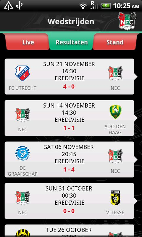 NEC Android Sports