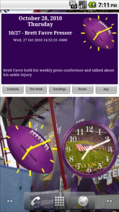 Vikings Football News & Clocks Android Sports