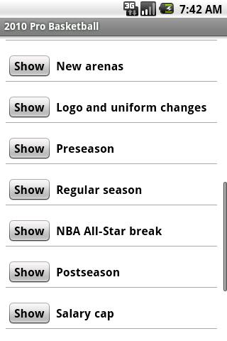 2010 Pro Basketball (Free) Android Sports