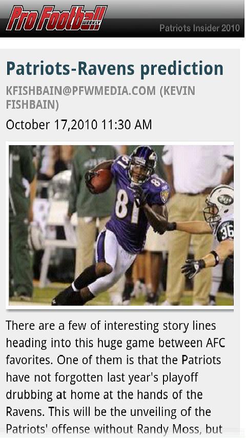 Patriots Football Lt– NFL News Android Sports