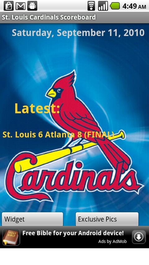 St. Louis Cardinals Scoreboard Android Sports