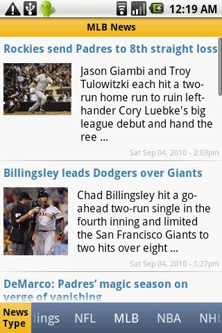 US Sports News Android Sports